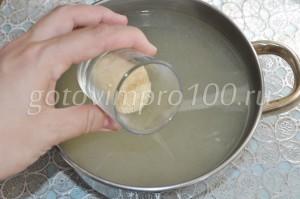 Разведите желатин