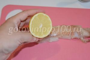 Сбрызните соком лимона