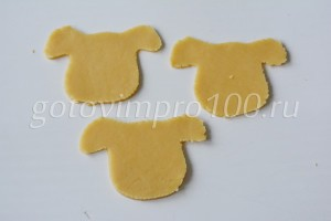 Вырежьте печенье