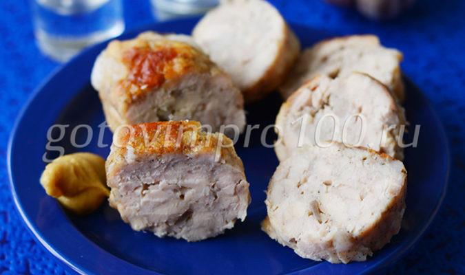 Куриная колбаса в мультиварке