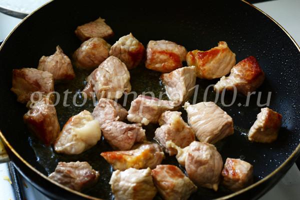 Жарьте мясо