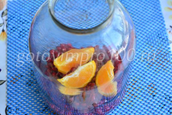 Выложите апельсины
