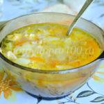 Рассольник с рисом и солеными огурцами