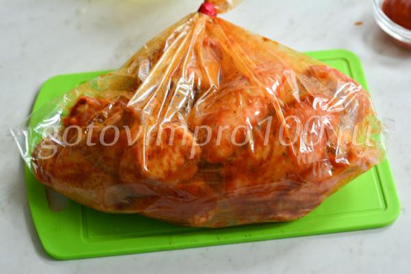 Куриные крылышки в медовом соусе-5