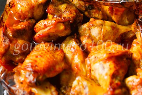 Куриные крылышки в медовом соусе-6