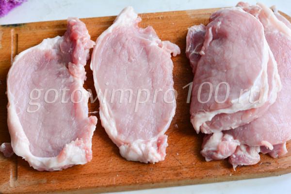 Отбивные из свинины очень вкусные и сочные-2