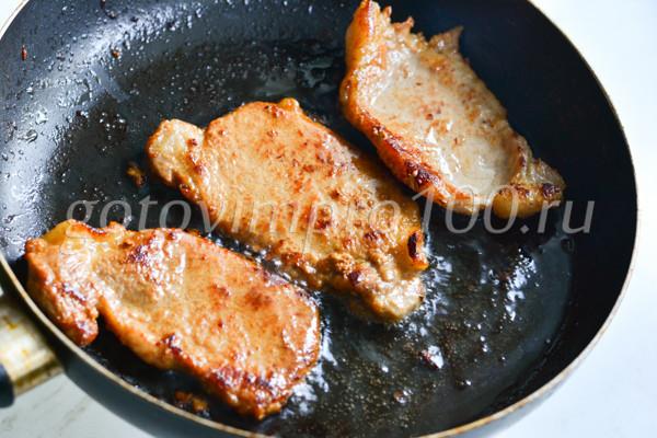 Отбивные из свинины очень вкусные и сочные-6