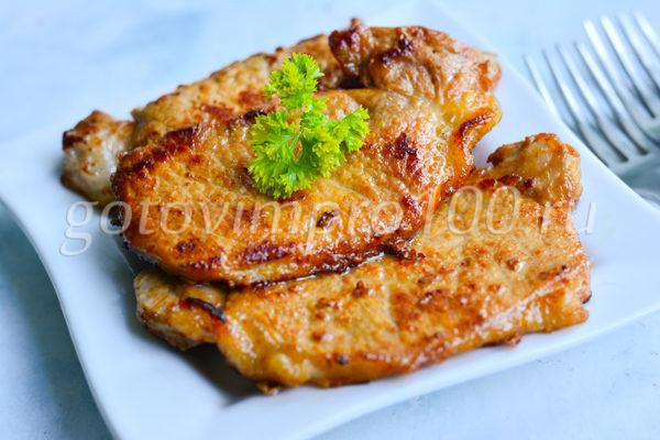 Отбивные из свинины очень вкусные и сочные
