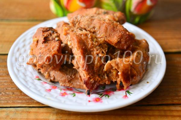 Шашлык из свинины в духовке-6