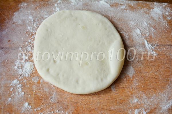 Хычины с картошкой и сыром-10