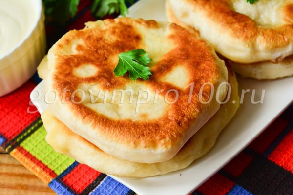 Хычины с картошкой и сыром-12
