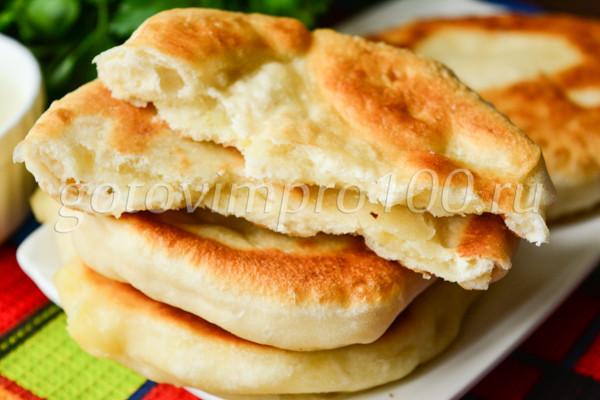 Хычины с картошкой и сыром-13