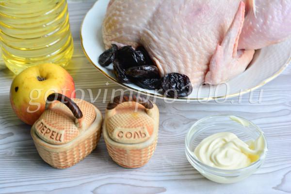 Курица с яблоками и черносливом-1